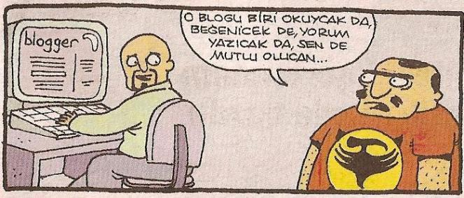 blogger karikatür