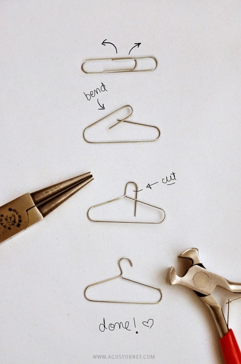Как сделать из бумаги вешалку для кукол